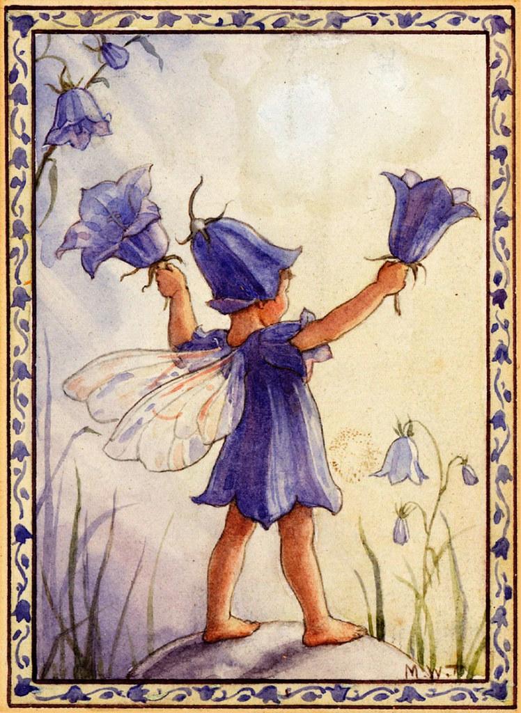 Die typische Glockenblumen-Bewohnerin: eine Fee oder Elfe. (c) Sofi